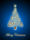 Abstract christmas three background — Stock Photo