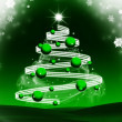 Abstract green christmas background — Stock Photo