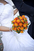 The bride with a wedding bouquet — Stok fotoğraf