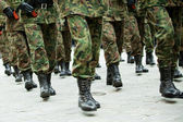 Soldiers of the armed forces marching — Stock Photo