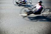 Disabled athlete at Wroclaw Marathon — Stock Photo