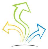 Arrows on grow — Stock Vector