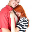 Loving hugging each other — Stockfoto