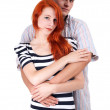 Loving hugging each other — Stock Photo
