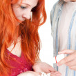 Royalty-Free Stock Photo: Couple with drugs