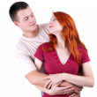 Woman and man hugging each other - Stock Photo
