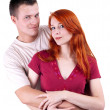 Royalty-Free Stock Photo: Woman and man hugging each other