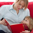 Royalty-Free Stock Photo: Mother and daughter reading