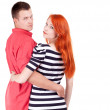 Two person hugging each other — Stock Photo #3933783