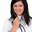 Smiling young female doctor — Stock Photo