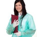medico della signora con appunti — Foto Stock
