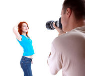Young woman posing — Stock Photo