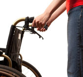 Woman with wheelchair — Stock Photo