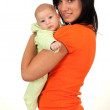 Stock Photo: Mother with two months old baby