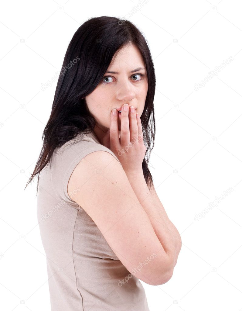 Frightened woman — Stock Photo #4000589