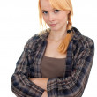 Beautiful woman wih crossed arms — Stock Photo