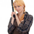 Woman with gun — Stock Photo #4050562