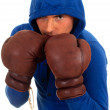 Man in boxing gloves - Foto Stock