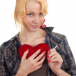 Valentine's woman — Stock Photo