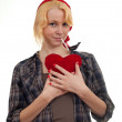 Valentine's woman — Stockfoto