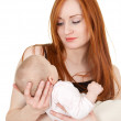 Mother with two months old baby — Stock Photo #4147406