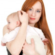 Mother with two months old baby — Stock Photo #4147411