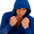 Young man ready to fight — Stock Photo
