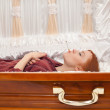 Stock Photo: Womand coffin