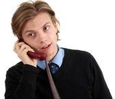 Konuşan genç adam — Stok fotoğraf
