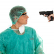 Royalty-Free Stock Photo: Doctor and gun