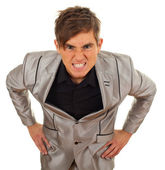Młody człowiek zły, wściekły — Zdjęcie stockowe