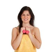 健身权重的女人 — 图库照片