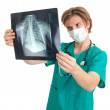 Royalty-Free Stock Photo: Male doctor and chest x-ray