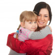 Little girl hugging to mother — Stock Photo #4406801