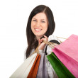 Young woman & coloured shopping bags — Stock Photo #4407032