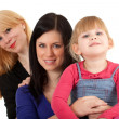 Little girl with two women - Foto de Stock