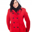 Beautiful woman in red jacket - Foto de Stock