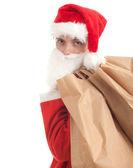 Man in santa kostuum — Stockfoto
