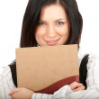 Stock Photo: Young woman and book
