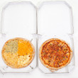 Two pizzas in boxes — Stock Photo