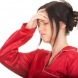 Young woman with headache - Lizenzfreies Foto