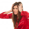 Young woman with headache — Stock Photo #4591044