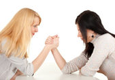 Two girlfriends fighting — Stock Photo