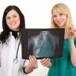 Smoking doctors and x-ray, chest - Stock Photo