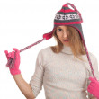 Young woman in winter hat — Stock Photo #4621668