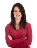 Uśmiechnięta młoda kobieta — Zdjęcie stockowe