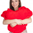 Young woman with heart — Stock Photo