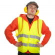 Worker in protective waistcoat — Stock Photo #4872631