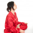 Meditating woman — Foto de stock #4872757