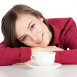 Young woman drinking coffee — Stock Photo #4873420